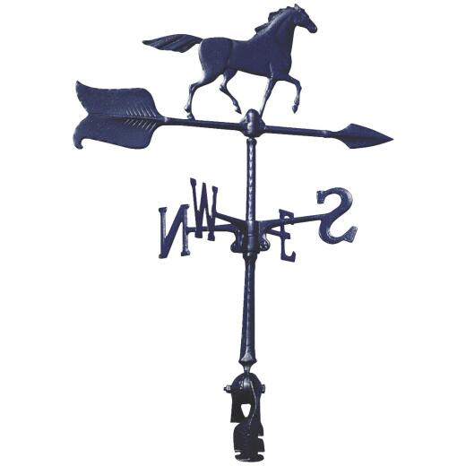 Whitehall Products 24 In. Black Aluminum Horse Weather Vane