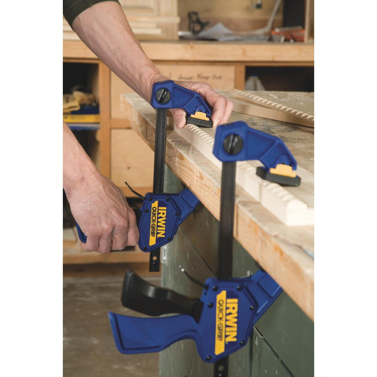 Irwin Quick-Grip 12 In. x 3-1/4 In. One-Hand Bar Clamp Image 5
