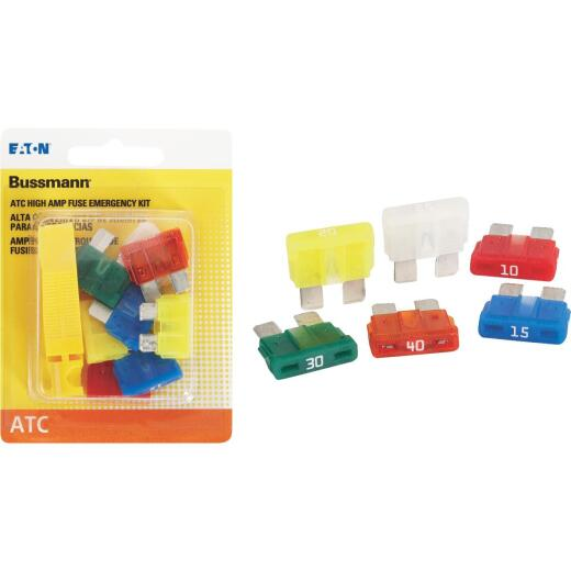 Bussmann ATC Blade High Amp Fuse Assortment (8-Pack)