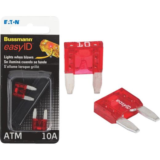 Bussmann 10-Amp 32-Volt ATM Blade Automotive Fuse (2-Pack)