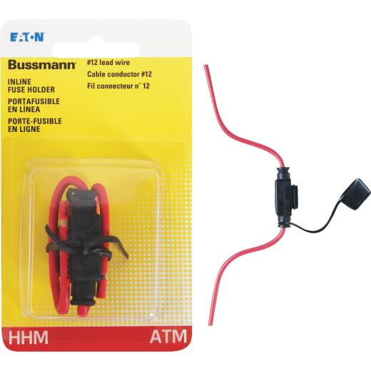 Bussmann 30-Amp #12 ATM In-Line Blade Fuse Holder