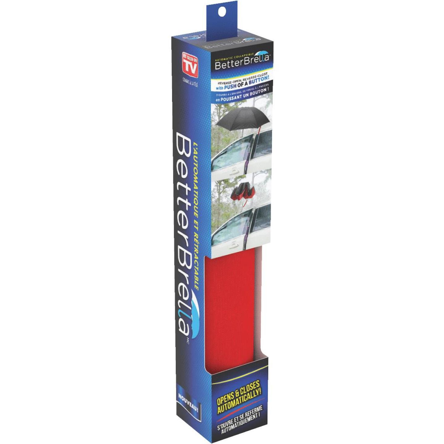Better Brella Reverse-Open Automatic 40 In. Collapsible Umbrella, Red Image 1