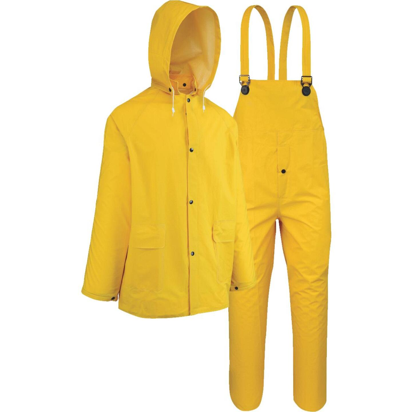 West Chester Medium 3-Piece Yellow PVC Rain Suit Image 1